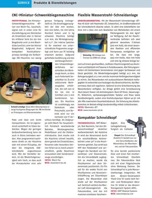 Blech in Form // Ausgabe Nr. 1 - 2007