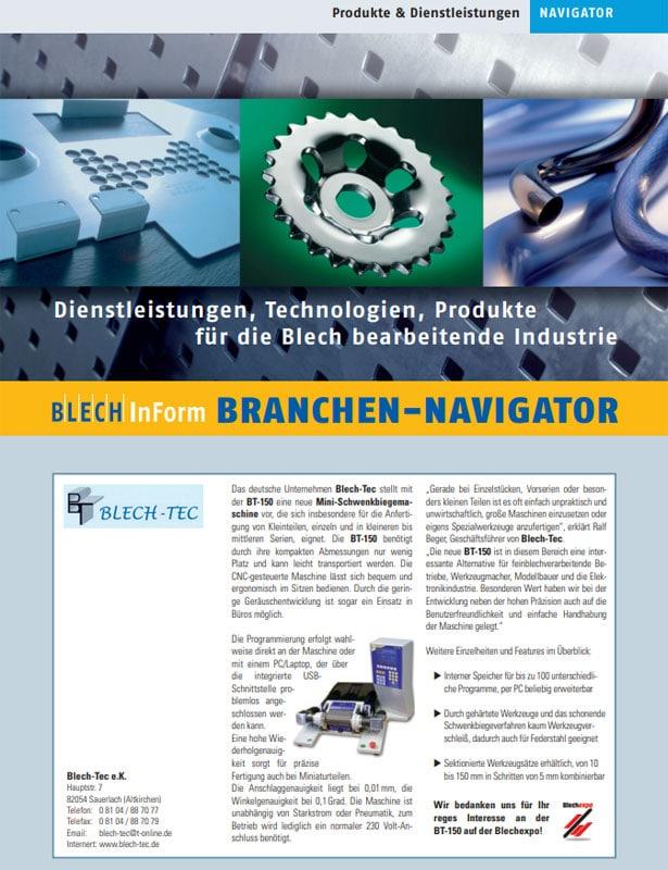 Blech in Form // Ausgabe Nr. 4 - 2007