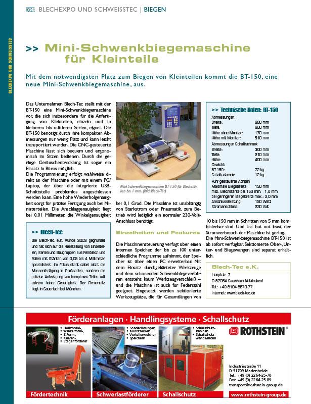 BRP - Blech Rohre Profile // Ausgabe Nr. 6-7 - 2007