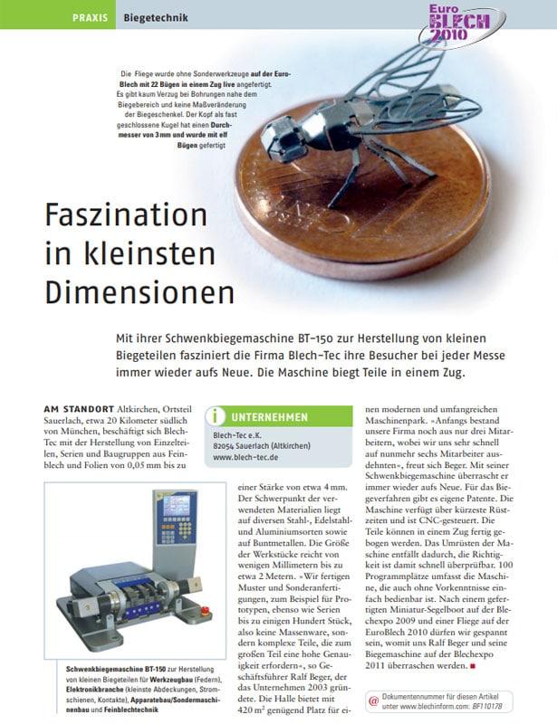 Blech in Form // Ausgabe Nr. 6 - 2010
