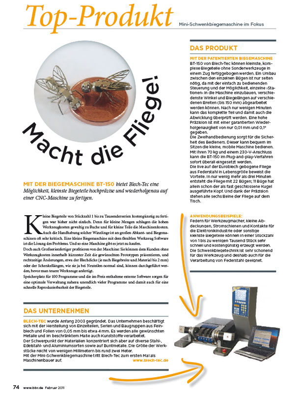 BBR - Bänder Bleche Rohre // Ausgabe Nr. 1 - Februar 2011