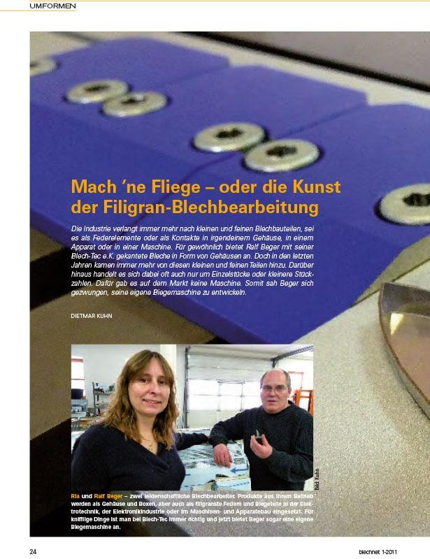 Blechnet // Ausgabe Nr. 1 - 2011