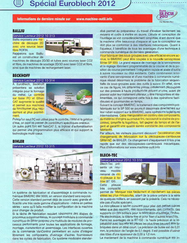 Métal Industries // Octobre 2012