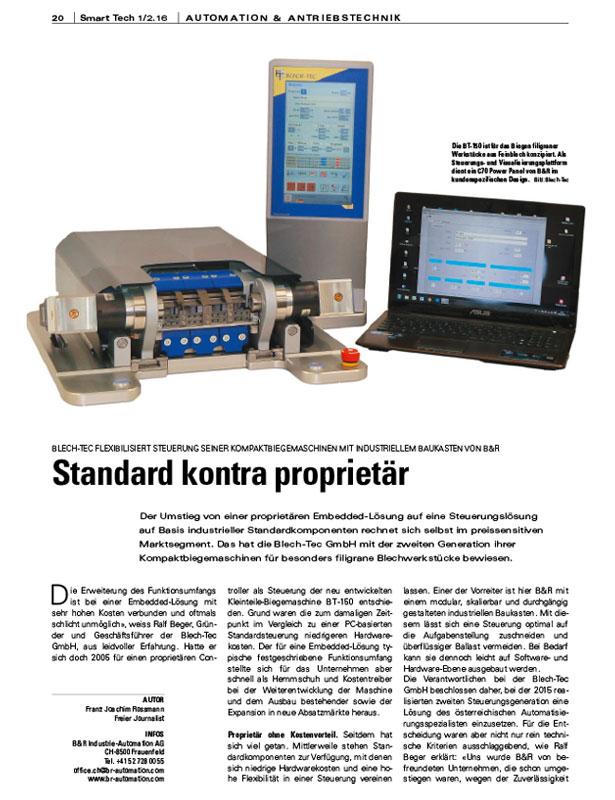 Smart Tech - Automation + Antriebstechnik // Ausgabe 1/2 2016