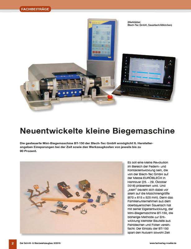 Der Schnitt- und Stanzwerkzeugbau // Ausgabe 3 / 2016