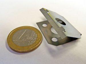 Technische Feder - Vergleich 1 Euro Münze