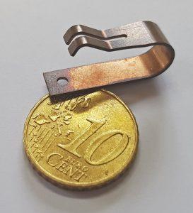 Technische Feder - Vergleich 10 Cent Münze