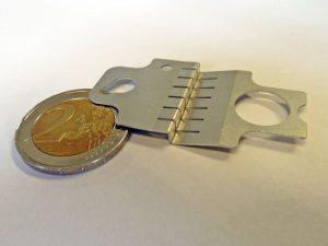 Technische Feder - Vergleich 2 Euro Münze
