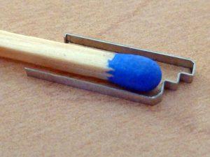 Technische Feder - Vergleich Streichholz